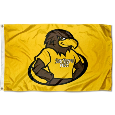 University of Southern Mississippi Mascot Logo Flag your