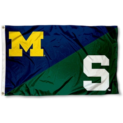 House Divided Flag Michigan Vs Michigan State Your House Divided Flag Michigan Vs Michigan State Banner And Pennant Source