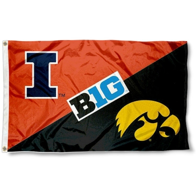 House Divided Flag Illinois Vs Iowa Your House Divided Flag Illinois Vs Iowa Banner And Pennant Source