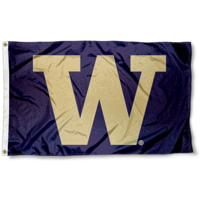 College Flags and Banners Co Washington Huskies Football Flag Large 3x5