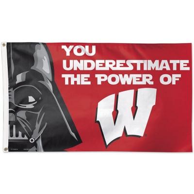 Wisconsin Badgers Mascot 3x5 Banner Flag