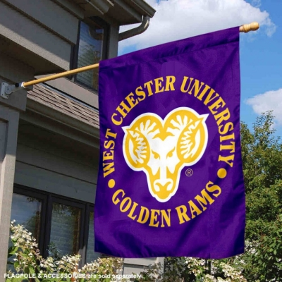 West Chester University Golden Rams 3x5 Flag College Flags and Banners Co