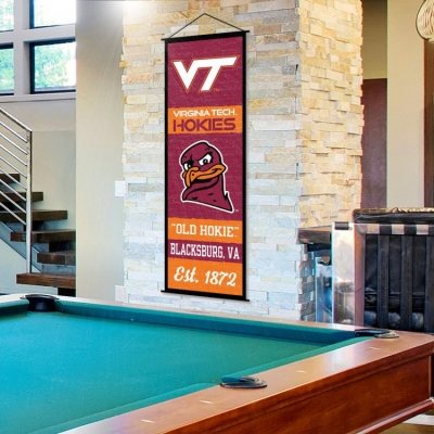 Virginia Tech Hokies Banner and Scroll Sign
