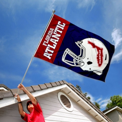 College Flags and Banners Co Florida Atlantic Owls Helmet Flag