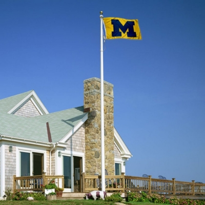 Michigan Wolverines Maize College Flag