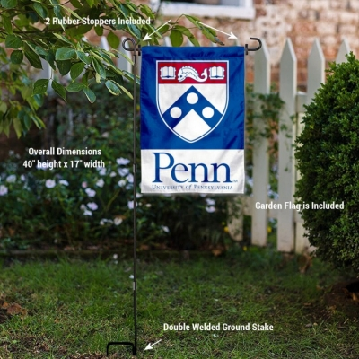 College Flags /& Banners Co Penn Quakers Shield Garden Flag