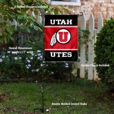 Utah Utes Mini Garden and Flower Pot Flag Topper College Flags /& Banners Co