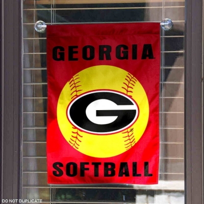 Georgia Bulldogs Softball Garden Flag College Flags and Banners Co