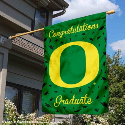 College Flags and Banners Co Oregon Ducks Banner with Hanging Pole