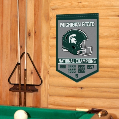Msu Spartans College Football National Champions Banner