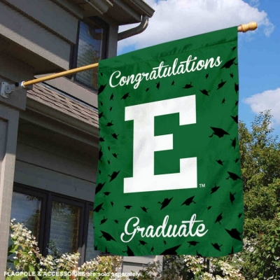 Eastern Michigan Eagles Banner with Hanging Pole