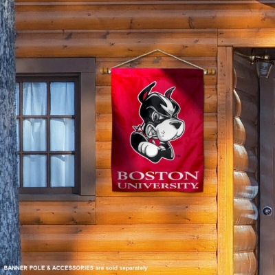College Flags and Banners Co Boston University Terriers House Flag