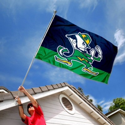 Notre Dame Fighting Irish Leprechaun Mascot Full Size Pennant College Flags /& Banners Co