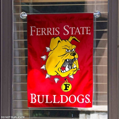 Ferris State Bulldogs Banner with Hanging Pole College Flags and Banners Co