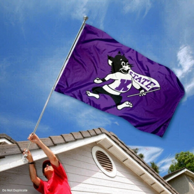 College Flags and Banners Co K State Wildcats Vintage 3x5 Flag