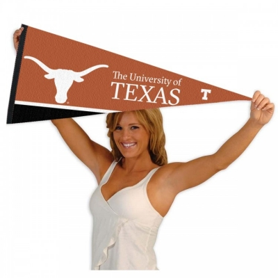 Vintage Texas Longhorns College University Pennant Flag Banner 11x29 inches