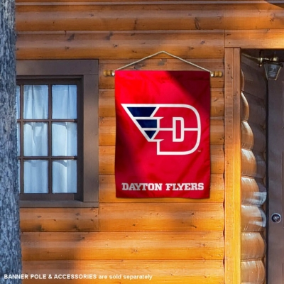 Dayton Flyers Flying D Banner with Hanging Pole College Flags and Banners Co