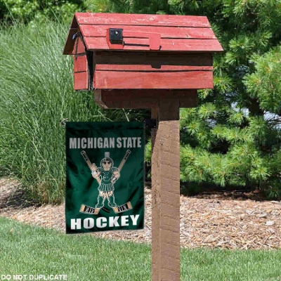 Michigan State Spartans Hockey Garden Flag College Flags and Banners Co