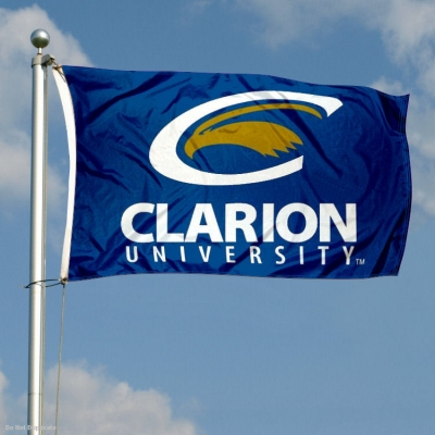 Clarion Golden Eagles Garden Flag College Flags and Banners Co