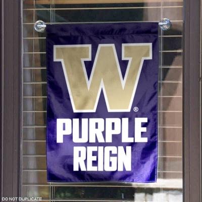Washington UW Huskies Purple Reign Garden Flag and Yard Banner
